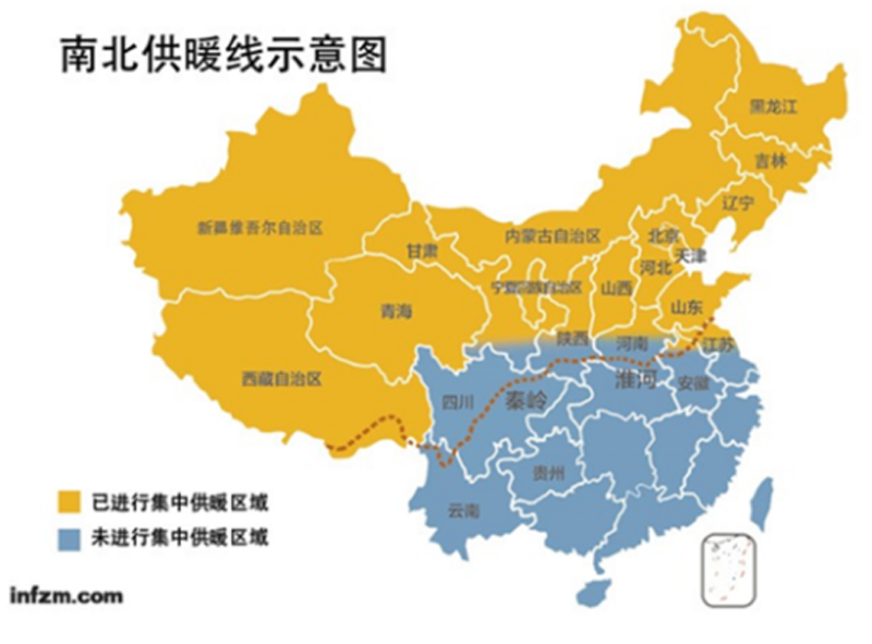 盘点那些在中国供暖分界线上的悲催�