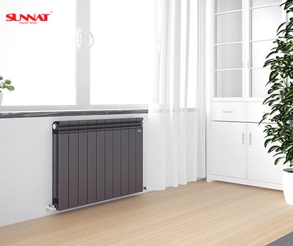 南方安装暖气片搭配壁挂炉采暖