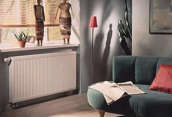 明装暖气片家装效果图 装饰采暖两相宜_森拉特暖通