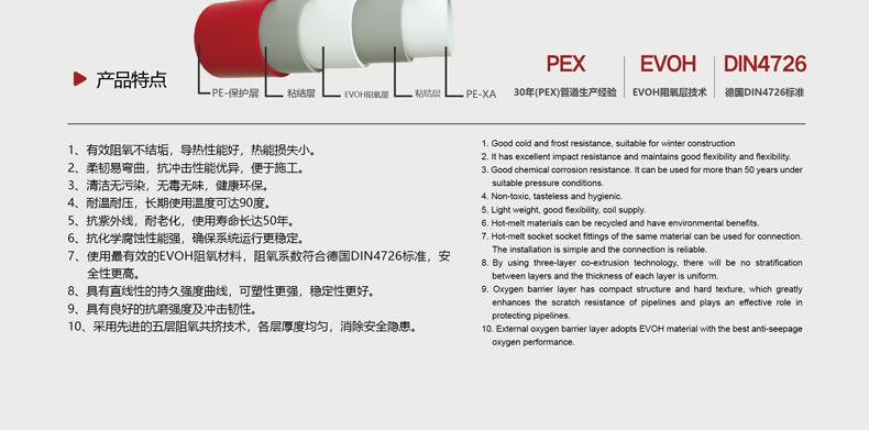 德国玫尔地暖PE-XA阻氧管